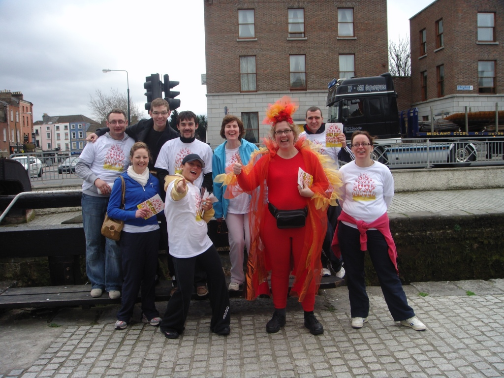 Myself and the lads at the Canal - how could you not take a leaflet from us?